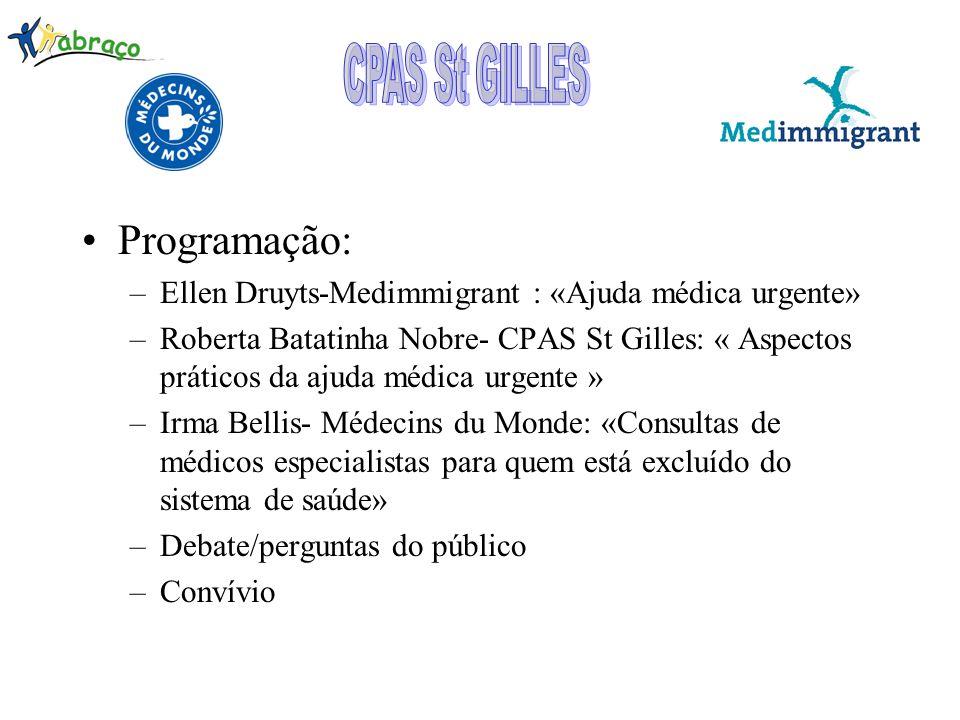 CPAS St GILLES Programação: