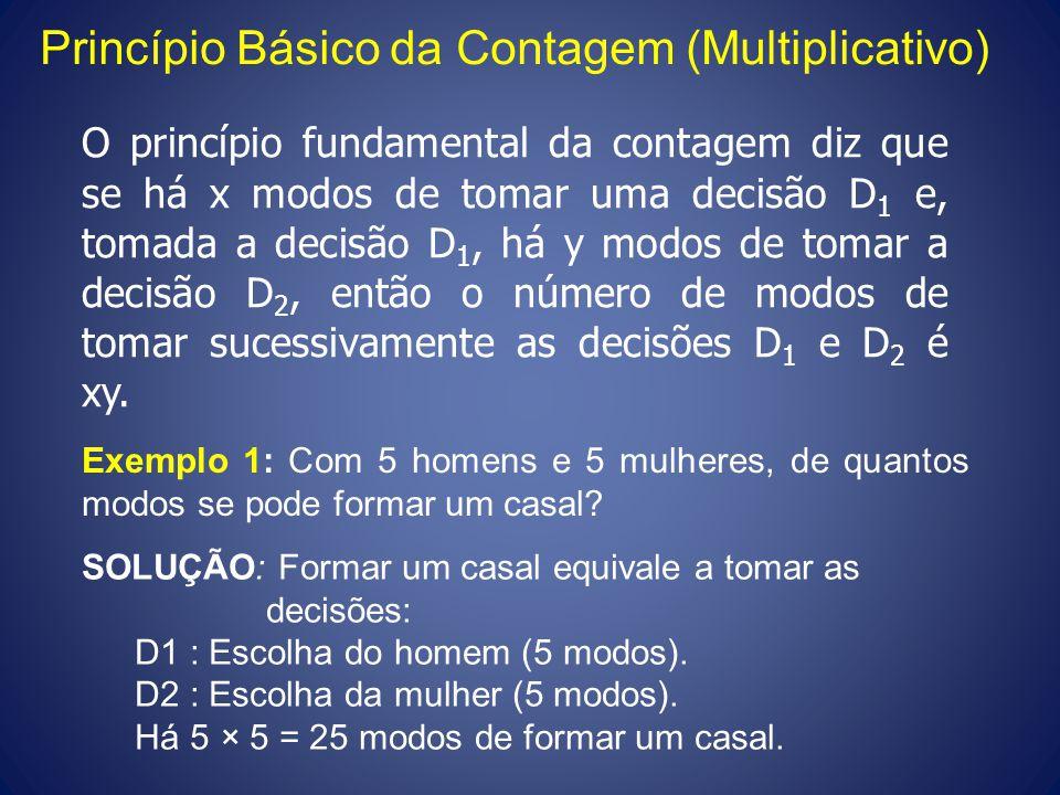 Princípio Básico da Contagem (Multiplicativo)