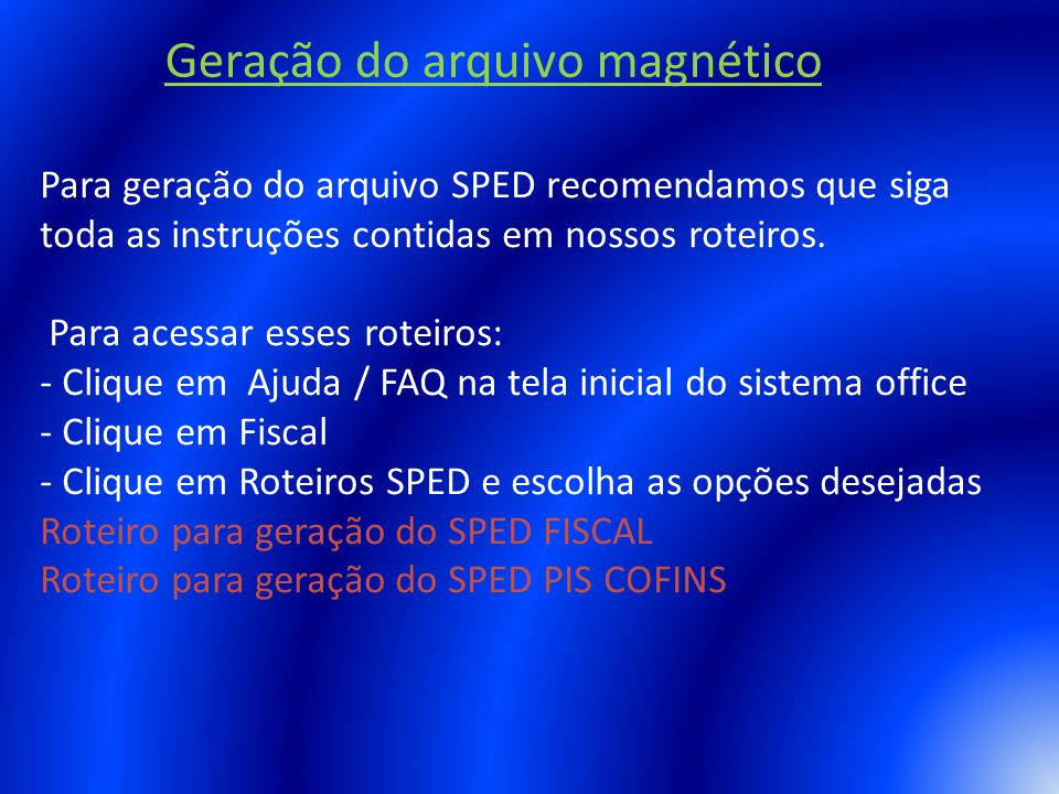 Geração do arquivo magnético