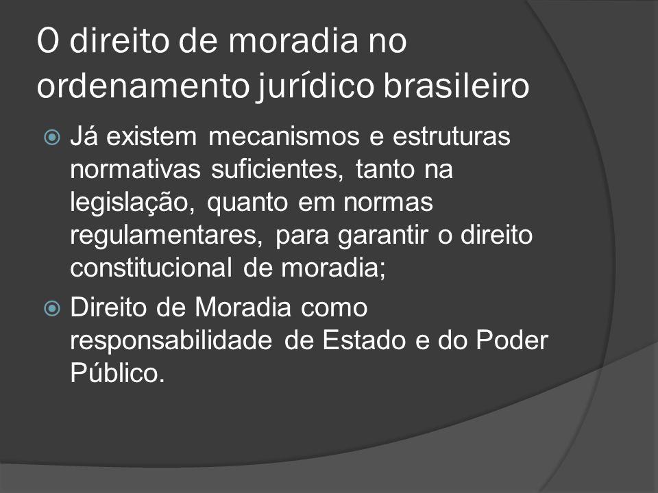O direito de moradia no ordenamento jurídico brasileiro