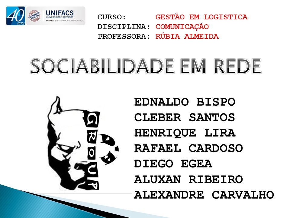 SOCIABILIDADE EM REDE EDNALDO BISPO CLEBER SANTOS HENRIQUE LIRA