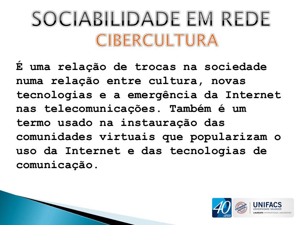SOCIABILIDADE EM REDE CIBERCULTURA