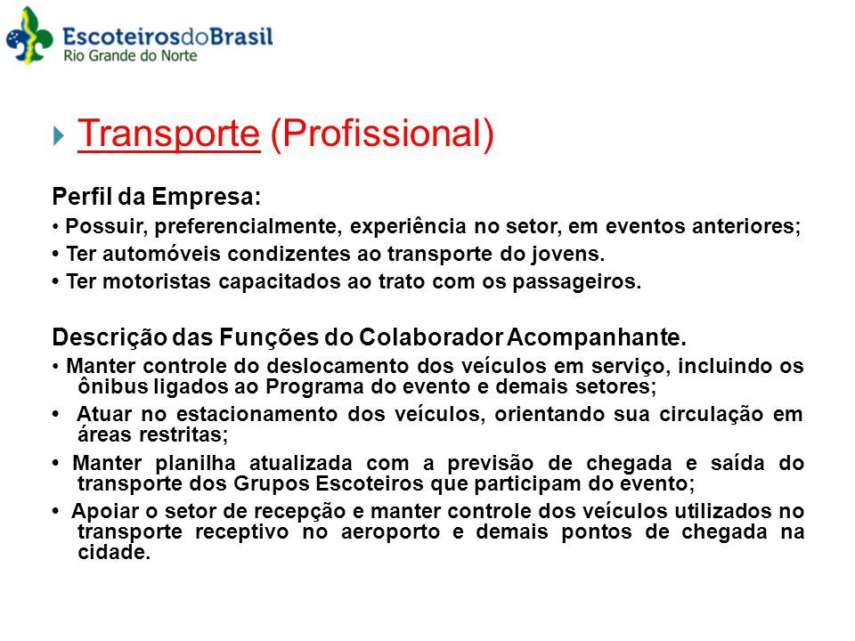 Transporte (Profissional)