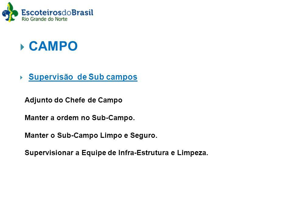 CAMPO Supervisão de Sub campos Adjunto do Chefe de Campo