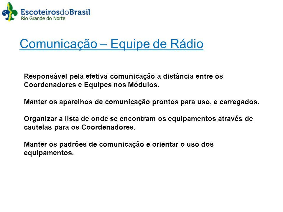 Comunicação – Equipe de Rádio