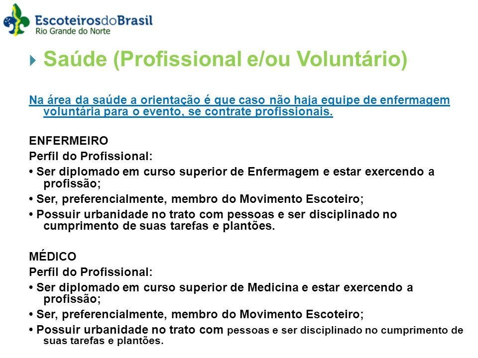 Saúde (Profissional e/ou Voluntário)
