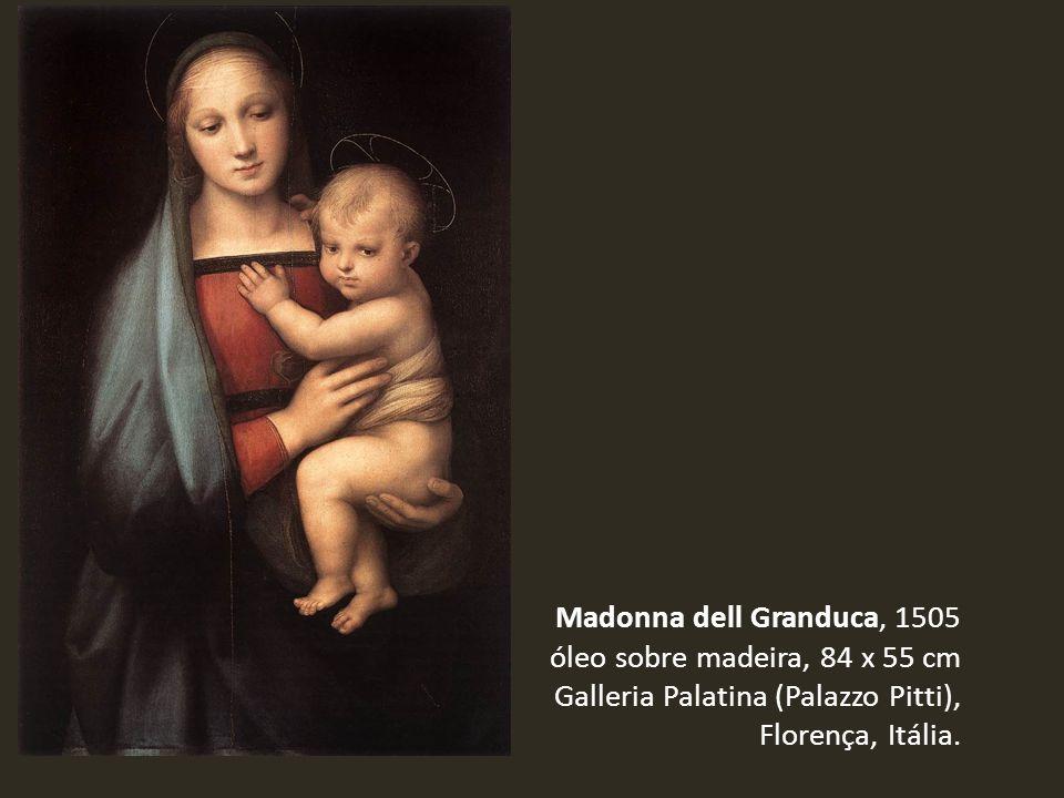 Madonna dell Granduca, 1505 óleo sobre madeira, 84 x 55 cm Galleria Palatina (Palazzo Pitti), Florença, Itália.