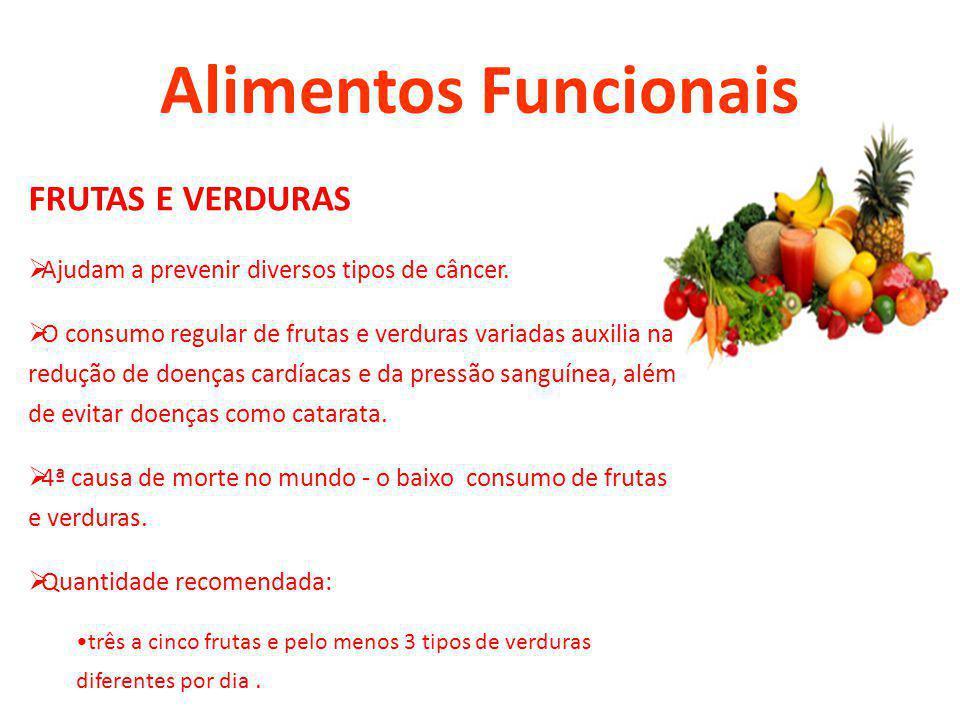 Alimentos Funcionais FRUTAS E VERDURAS