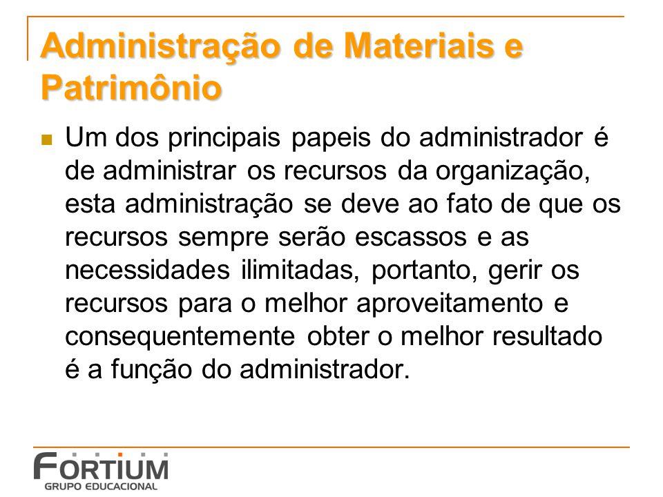 Administração de Materiais e Patrimônio