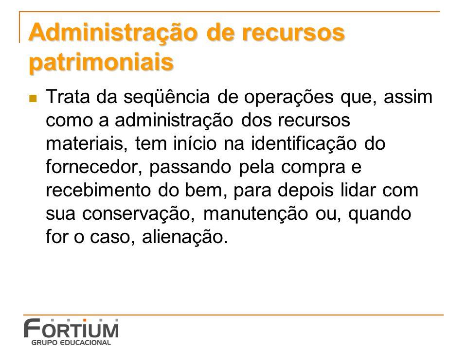 Administração de recursos patrimoniais