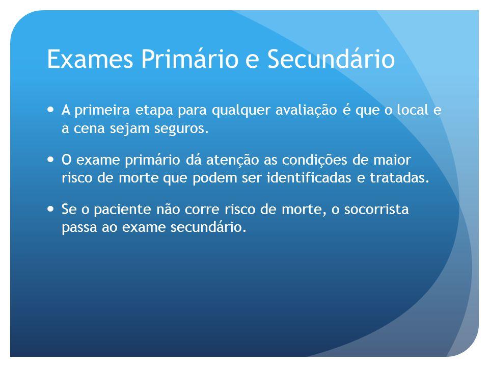 Exames Primário e Secundário