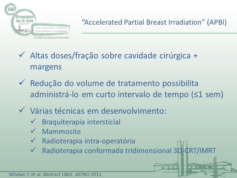Accelerated Partial Breast Irradiation (APBI)