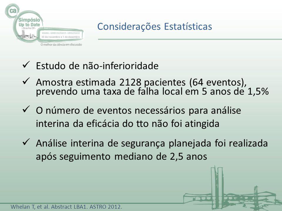 Considerações Estatísticas