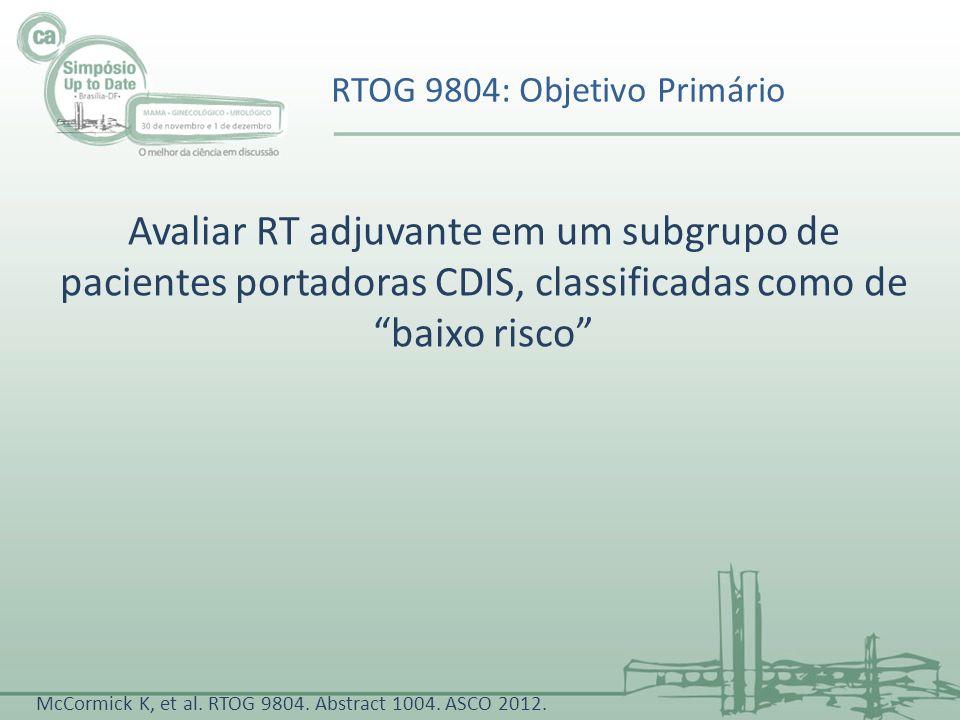 RTOG 9804: Objetivo Primário