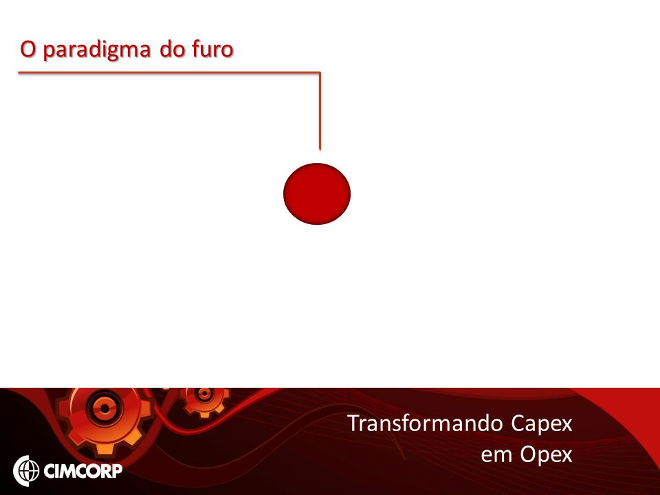 O paradigma do furo Transformando Capex em Opex