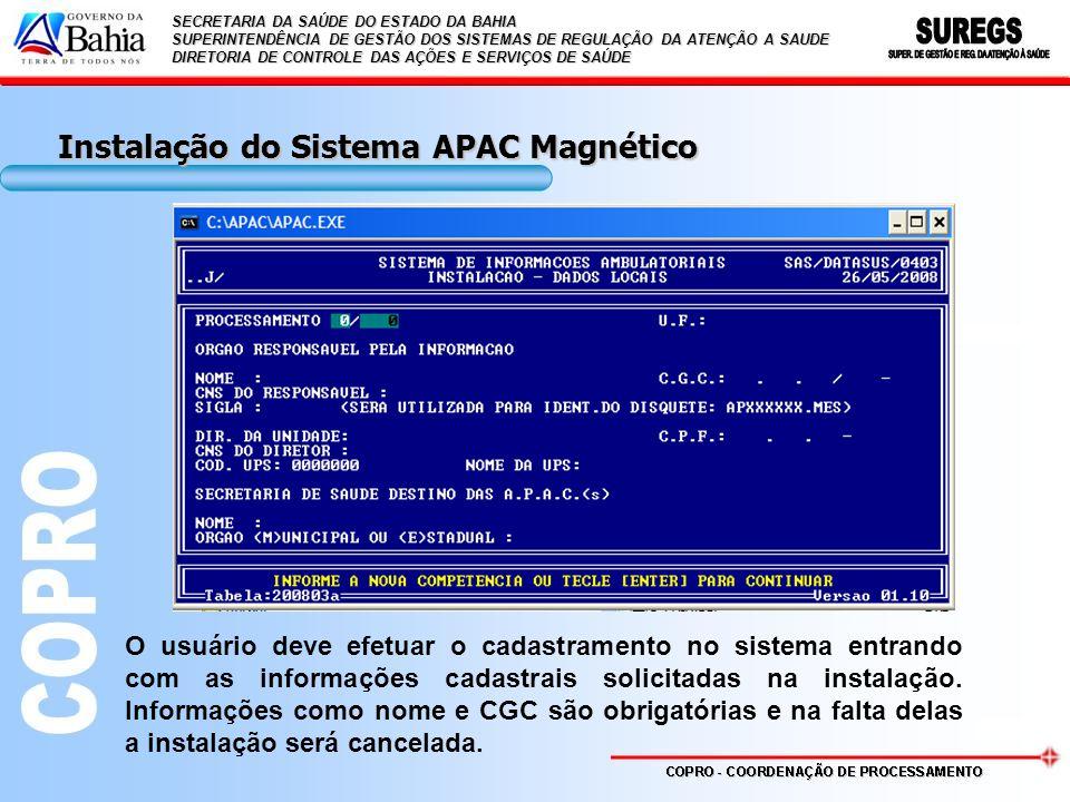 Instalação do Sistema APAC Magnético