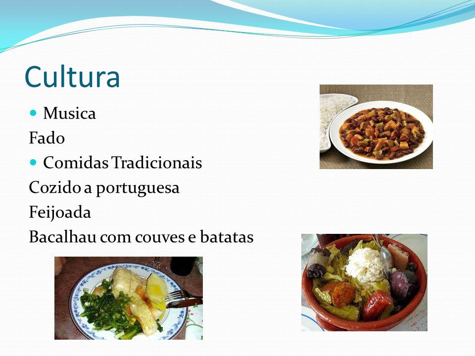 Cultura Musica Fado Comidas Tradicionais Cozido a portuguesa Feijoada