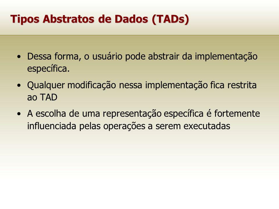 Tipos Abstratos de Dados (TADs)