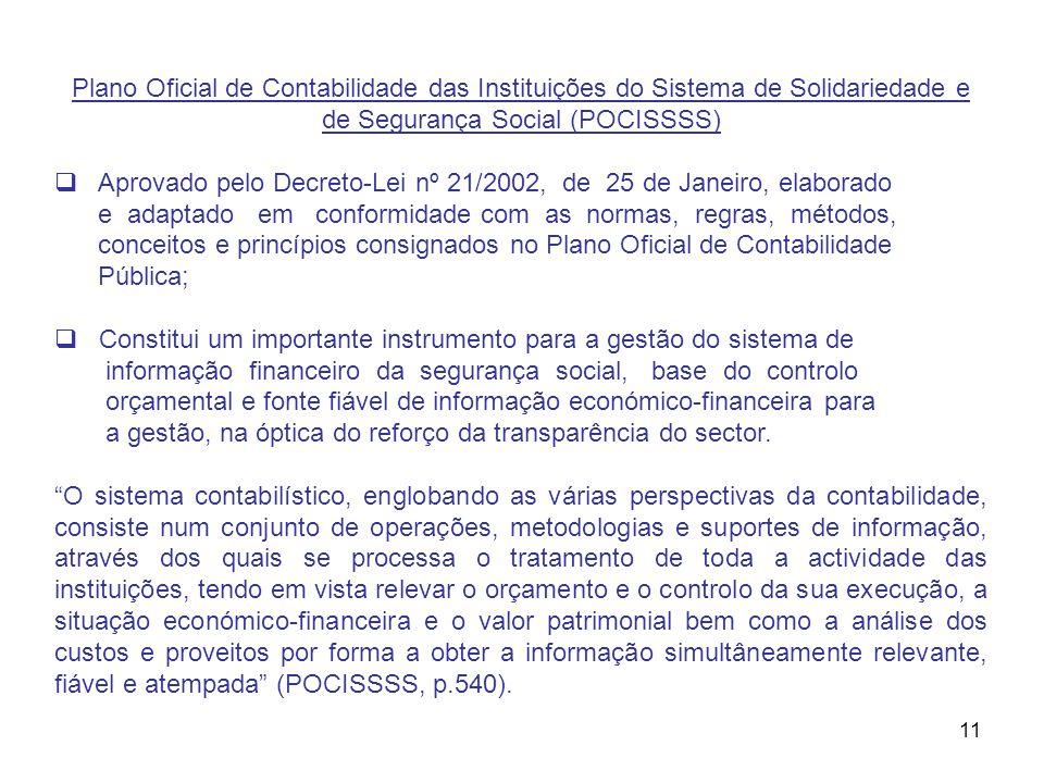 Plano Oficial de Contabilidade das Instituições do Sistema de Solidariedade e de Segurança Social (POCISSSS)
