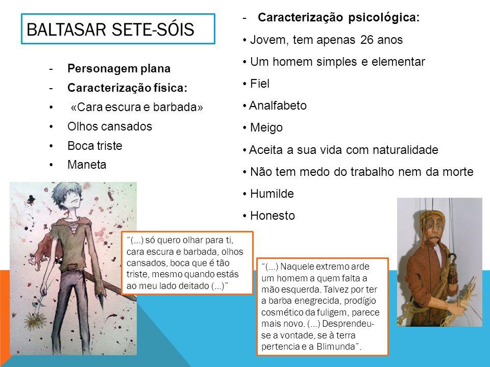 Baltasar sete-sóis Caracterização psicológica: