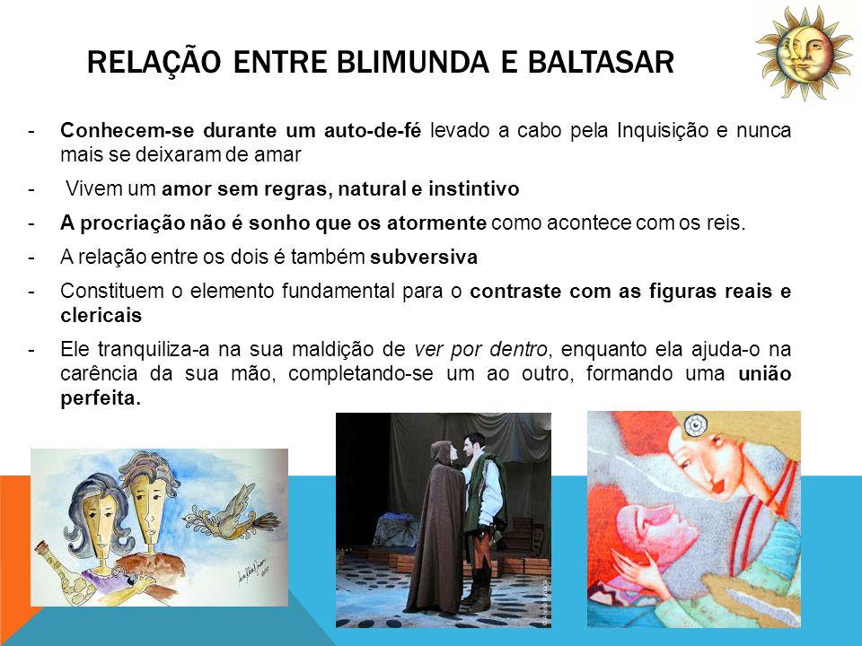 Relação entre Blimunda e Baltasar