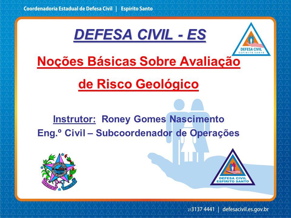 DEFESA CIVIL - ES Noções Básicas Sobre Avaliação de Risco Geológico