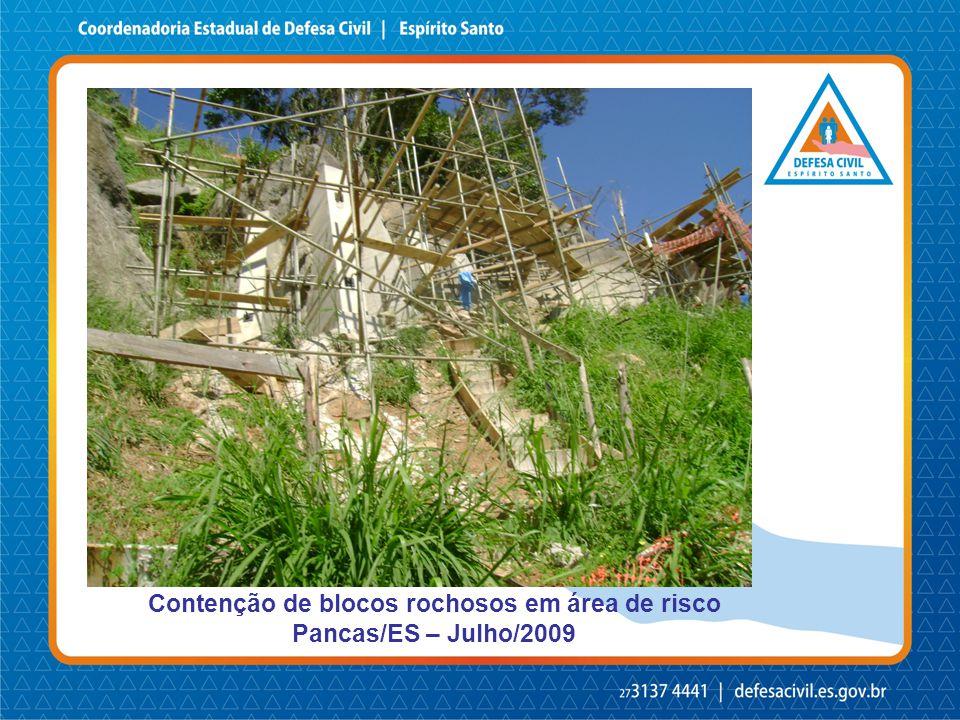 Contenção de blocos rochosos em área de risco