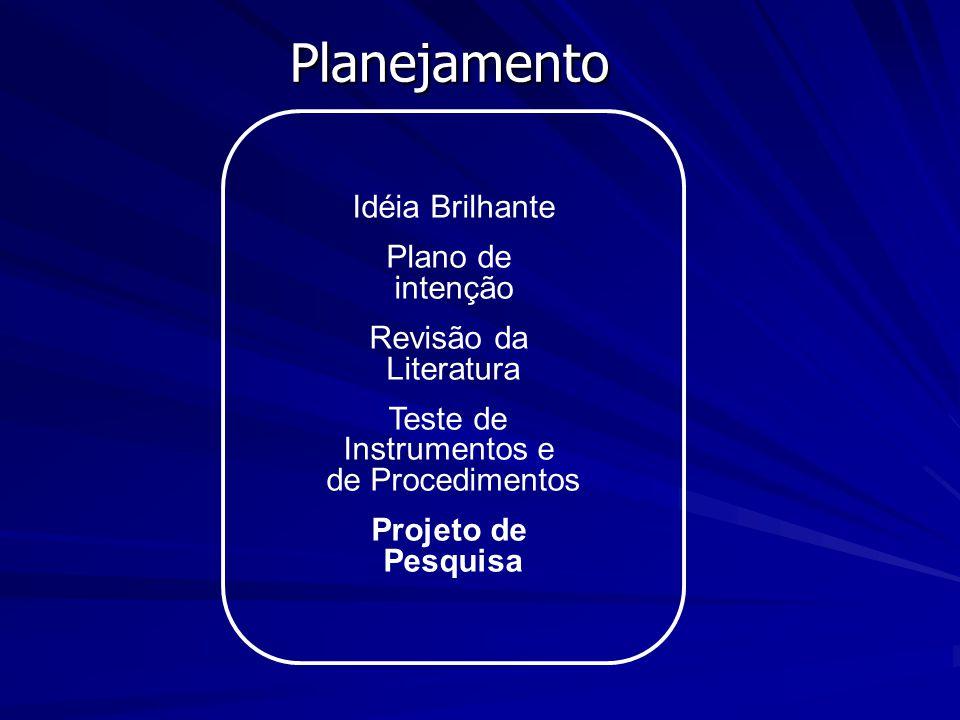 Teste de Instrumentos e de Procedimentos