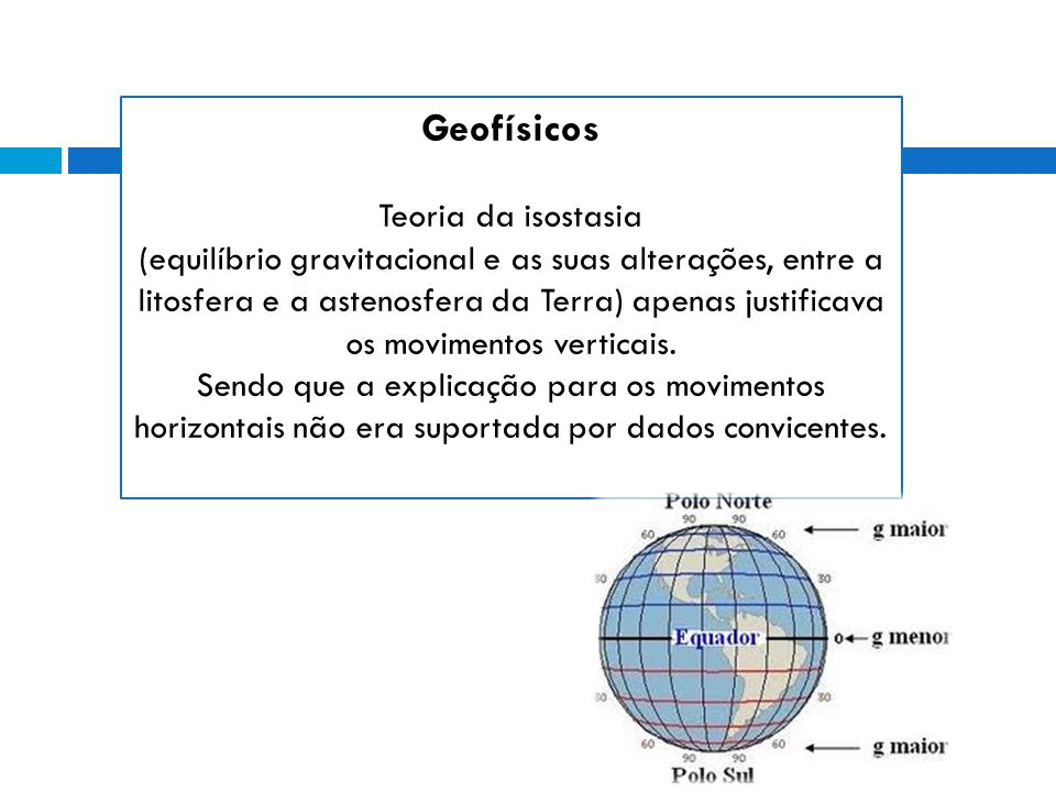 Geofísicos Teoria da isostasia