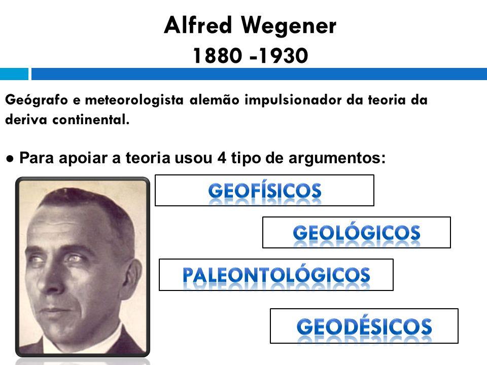Alfred Wegener 1880 -1930 Geodésicos Geofísicos Geológicos