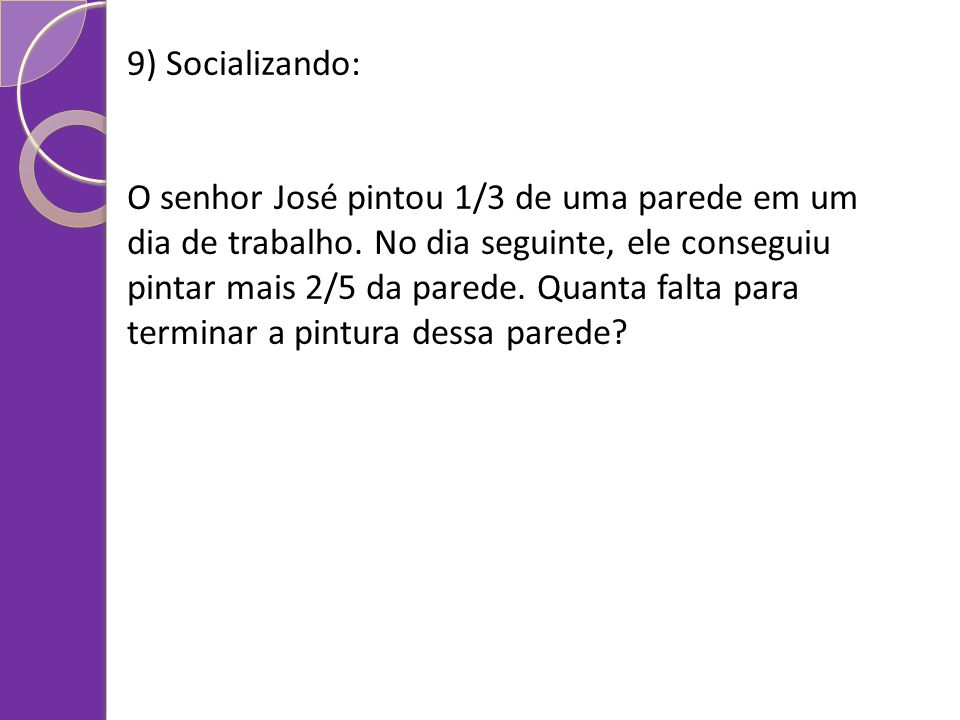 9) Socializando: