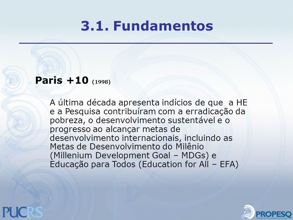3.1. Fundamentos Paris +10 (1998)