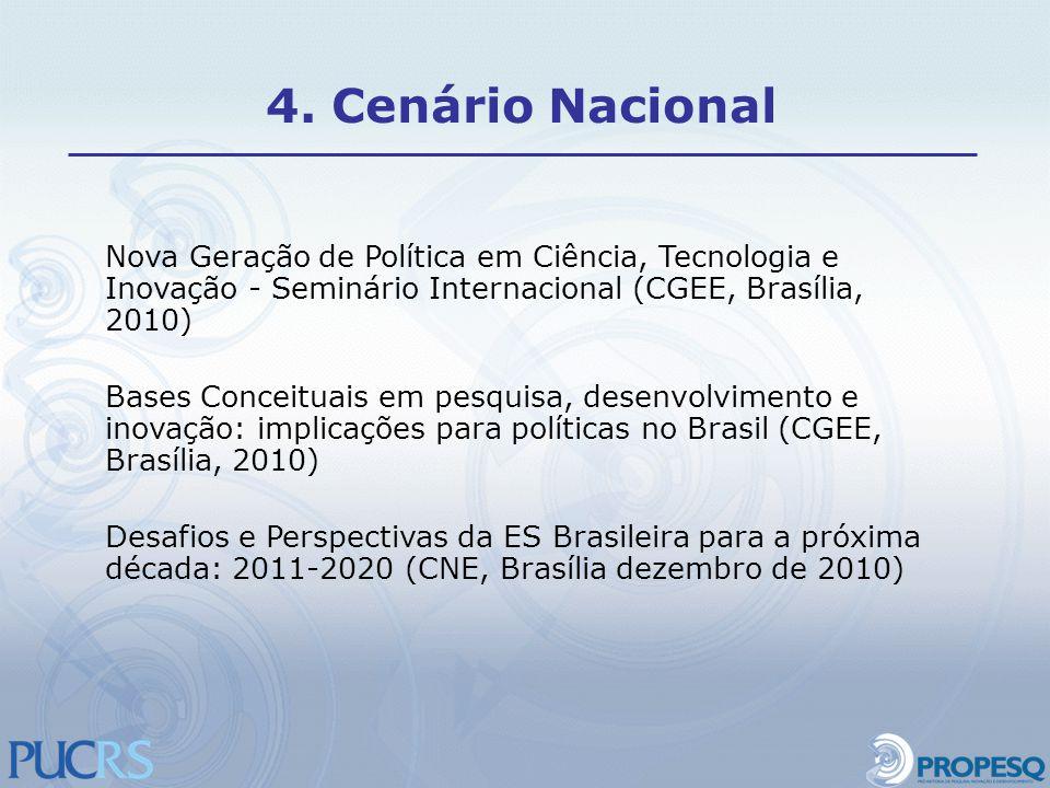 4. Cenário Nacional Nova Geração de Política em Ciência, Tecnologia e Inovação - Seminário Internacional (CGEE, Brasília, 2010)