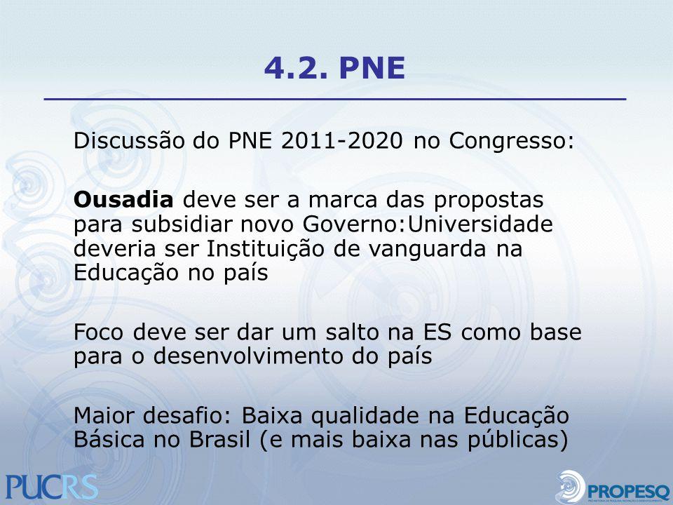 4.2. PNE Discussão do PNE 2011-2020 no Congresso: