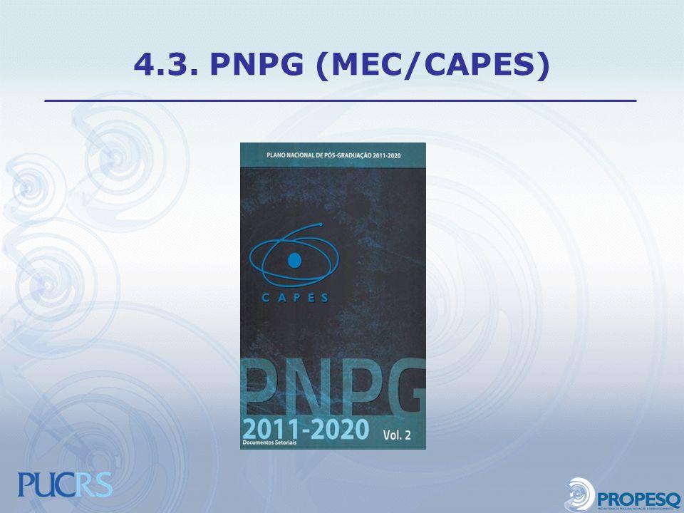 4.3. PNPG (MEC/CAPES)