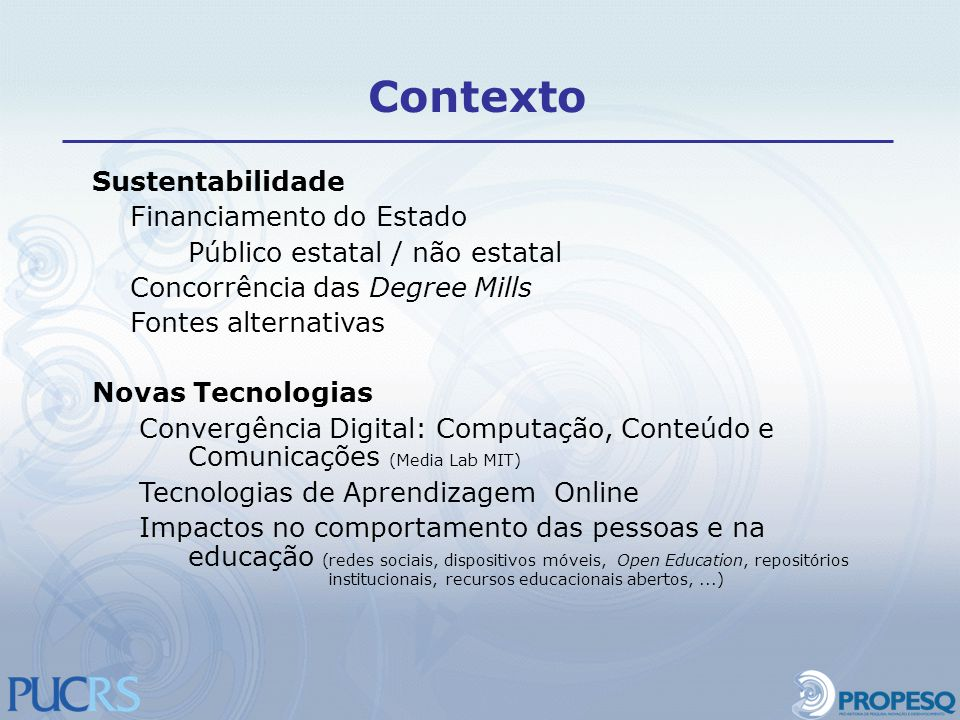 Contexto Sustentabilidade Financiamento do Estado