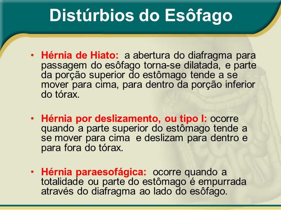 Distúrbios do Esôfago