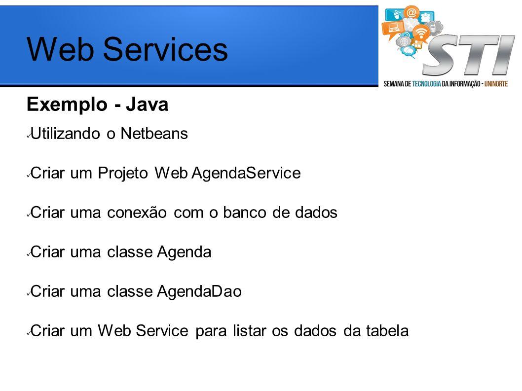 Web Services Exemplo - Java Utilizando o Netbeans