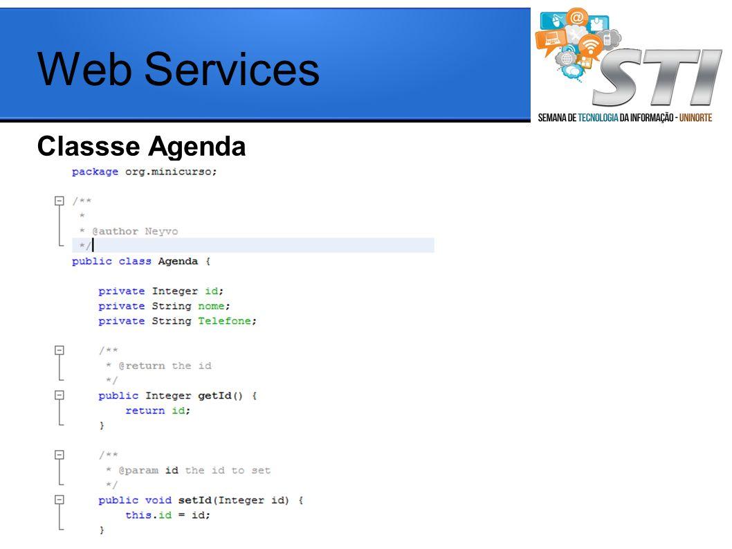 Web Services Classse Agenda