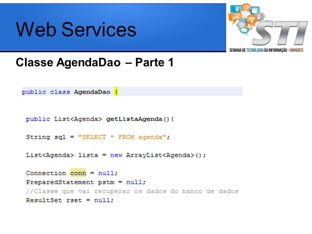 Web Services Classe AgendaDao – Parte 1