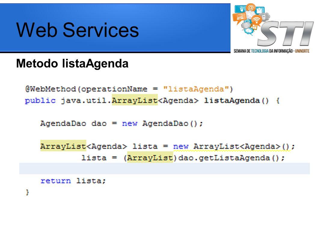 Web Services Metodo listaAgenda