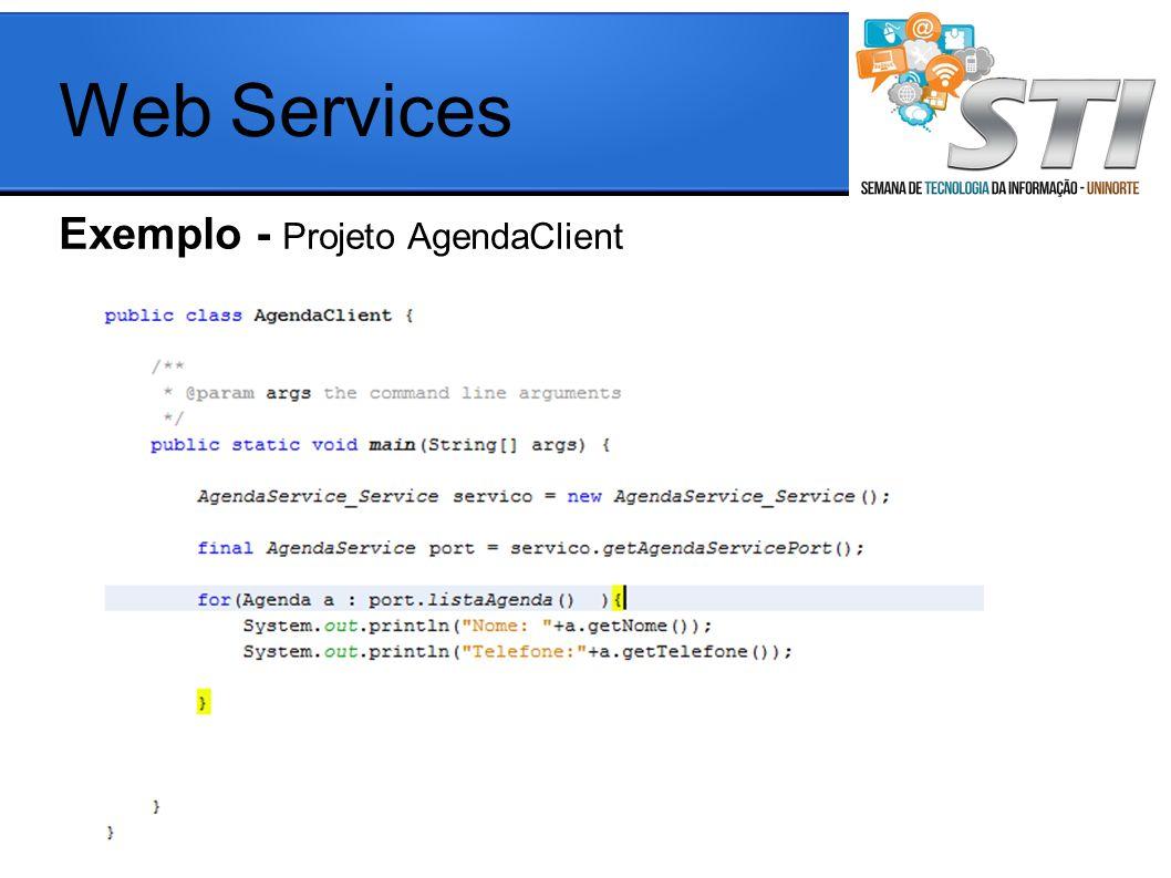 Web Services Exemplo - Projeto AgendaClient
