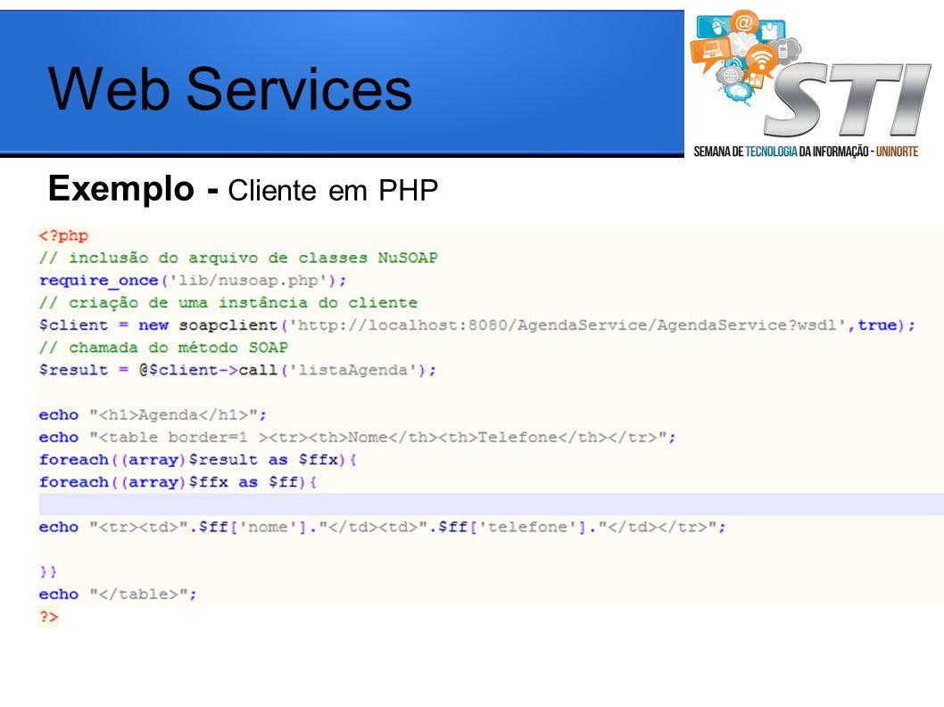 Web Services Exemplo - Cliente em PHP