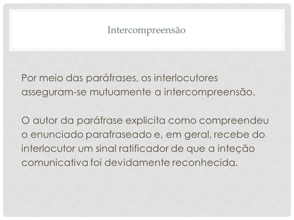 Intercompreensão