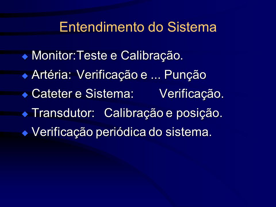 Entendimento do Sistema