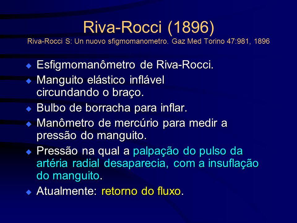 Riva-Rocci (1896) Riva-Rocci S: Un nuovo sfigmomanometro