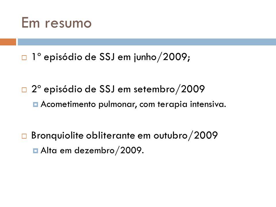 Em resumo 1º episódio de SSJ em junho/2009;