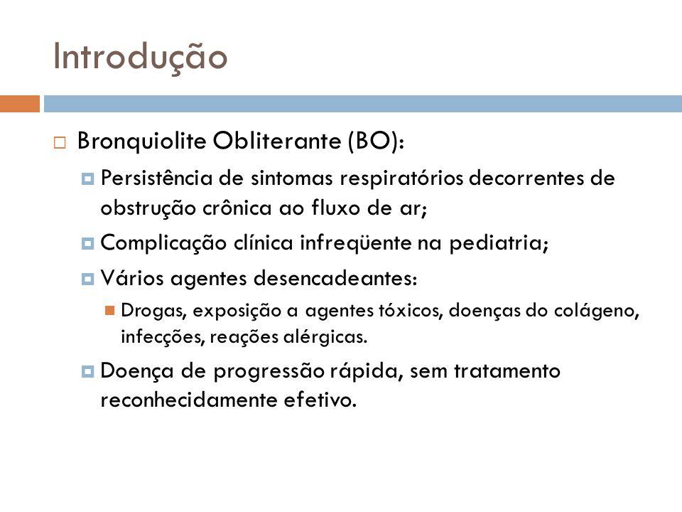 Introdução Bronquiolite Obliterante (BO):