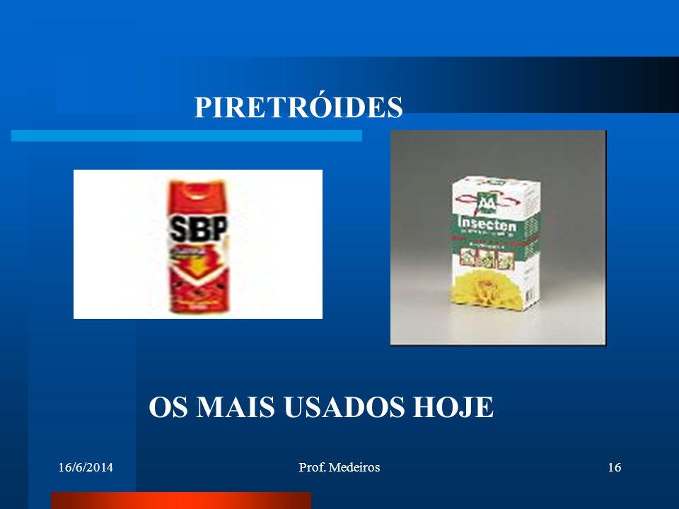 PIRETRÓIDES OS MAIS USADOS HOJE 02/04/2017 Prof. Medeiros