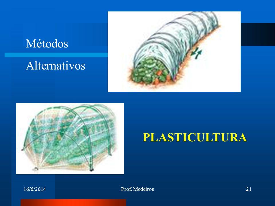 Métodos Alternativos PLASTICULTURA 02/04/2017 Prof. Medeiros